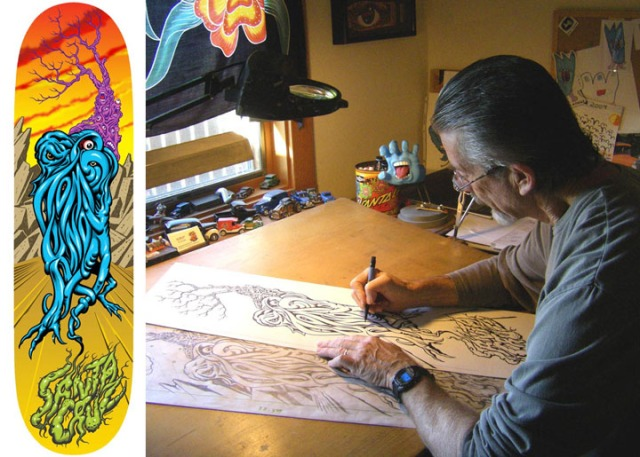 Jim Phillips at work.