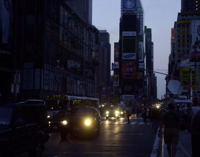 New York City is plunged into darkness after a power failure [2003]